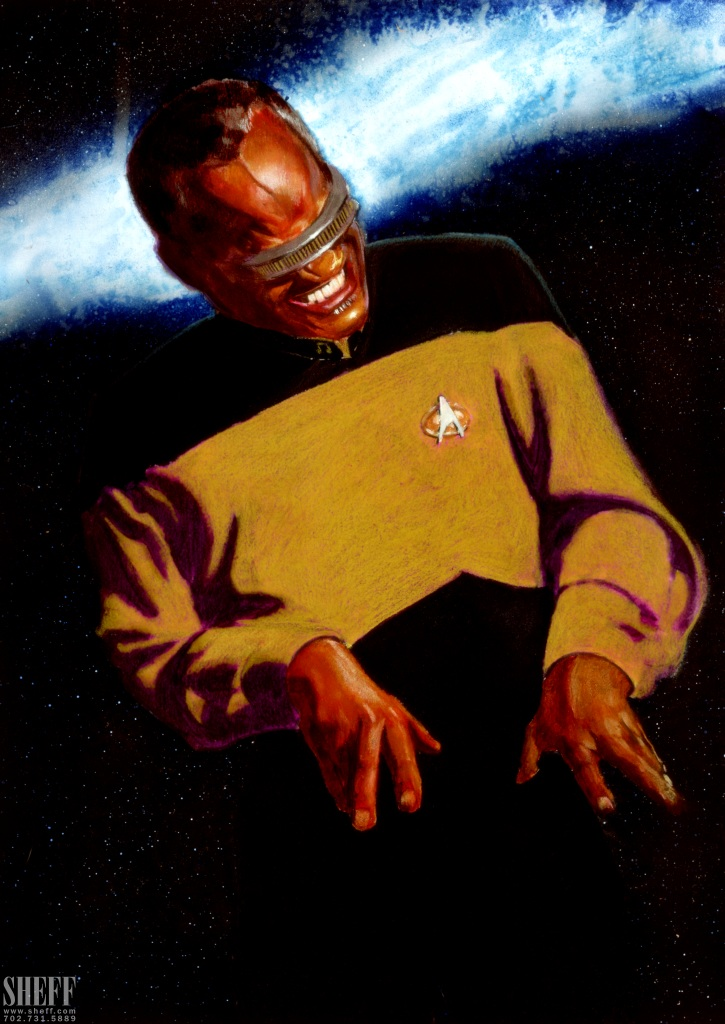 Ray Charles as Geordi La Forge