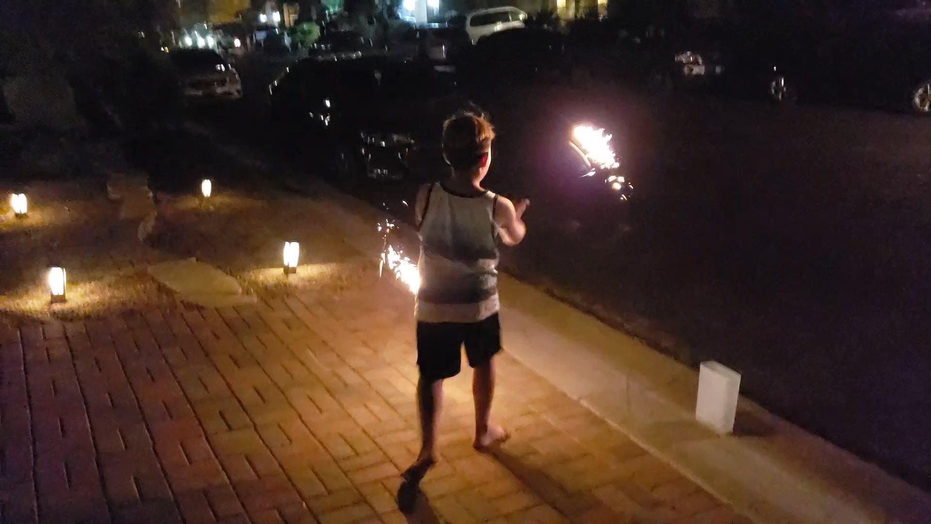 Vin Fire Dancing