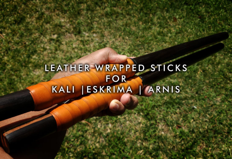 Leather Wrapped Sticks for Kali | Eskrima | Arnis